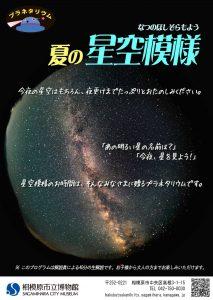 【プラネタリウム】夏の星空模様