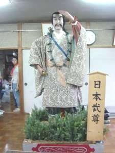 7月13日(土)夕方に伺った時には自治会館の中に飾られていた