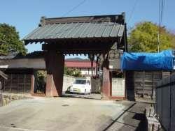 上野原宿本陣の門、現在は門のみが残る。(山梨県上野原市)