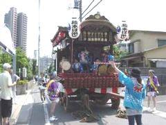 橋本の山車(7月29日)