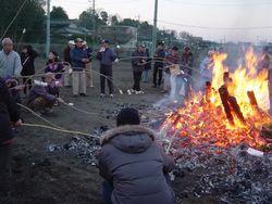 ⑨団子焼き(2014年1月12日