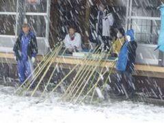 10  中央区清新(1月14日午後 雪が激しくなってきた)