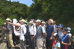 津久井湖方面の地形と地質の説明