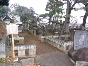 江雪斎の墓もある市指定史跡「龍像寺の岡野氏墓地」