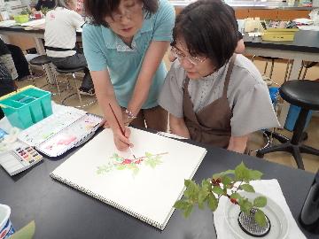 植物学教室「花の観察と植物画」