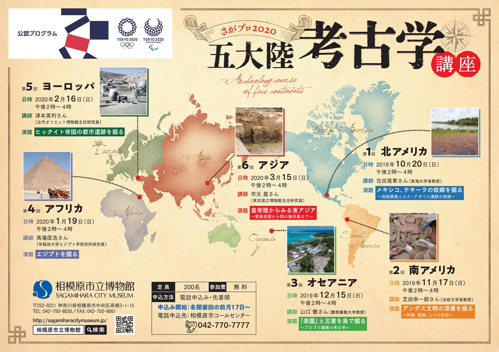 さがプロ2020五大陸考古学講座 第1回「北アメリカ」
