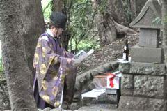 宮司による祝詞(4月8日)