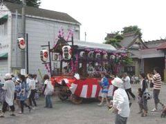 水郷田名の山車(田名地区。7月15日)