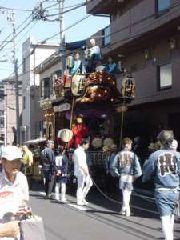 小門町(上地区)・新しく参加した町内も山車が華やかに巡行する