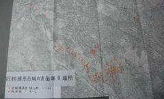 採集地点が記録された地図