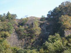 西側から見た包丁岩