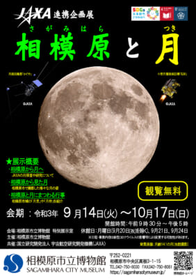 JAXA連携企画展 相模原と月 チラシ